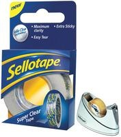Sellotape Bench Dispenser Chrome Small  Daily Deal - Free with 8 packs of Sellotape Super Clear Tape 18mmx25mm.