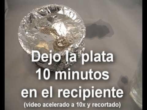 cmo limpiar la plata aluminio agua y sal