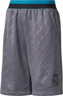adidas Kids Real Madrid Knit Short - Grey Five & Black | SoccerMaster.com