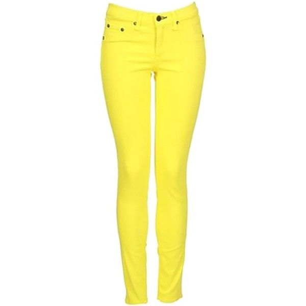 Pre-owned Rag & Bone & Stretch Legging In Neon Yellow Skinny Jeans- ($100) ❤ liked on Polyvore featuring pant, none and rag & bone