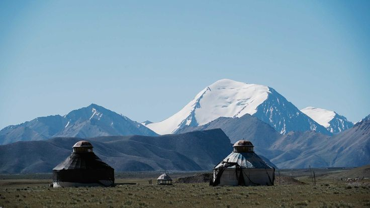 Two homes of Mongolian herders