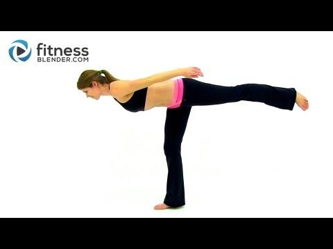 At Home Total Body Barre Workout - 15 Minute Barre Video, Fitness Blender