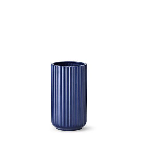 Our 20 cm original Lyngby vase in matt blue porcelain