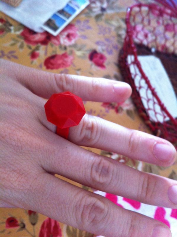 Maria, in Genoa, wearing red sillimond ring! For more information visit www.scicche,it