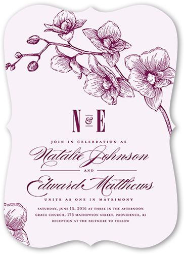 9 best wedding invitation examples images on pinterest invitation lovely orchids wedding invitation bracket corners white wedding invitations examplesinvitation stopboris Image collections