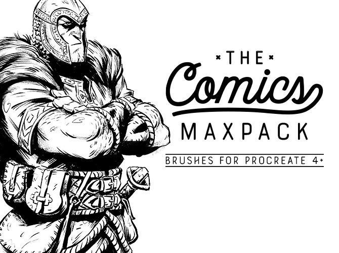 The Comics Maxpack Brushes For Procreate Sketch Markers