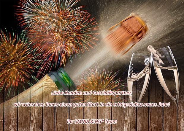 Wir wünschen Ihnen viel Glück im neuen Jahr!  #Saunaking #Neuen_jahr