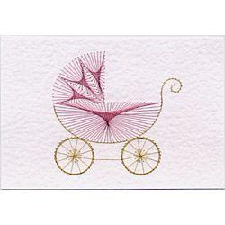 Kinderwagen Fadengrafik-Karten Muster