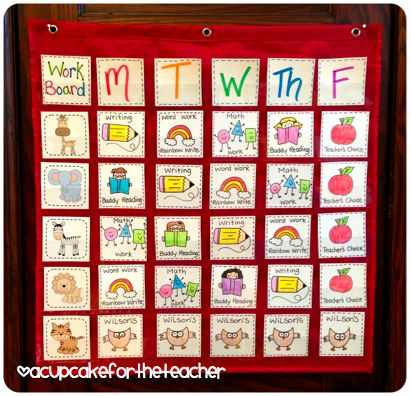 Organize your centers or Daily 5 if you don't let kids do the choosing yet!
