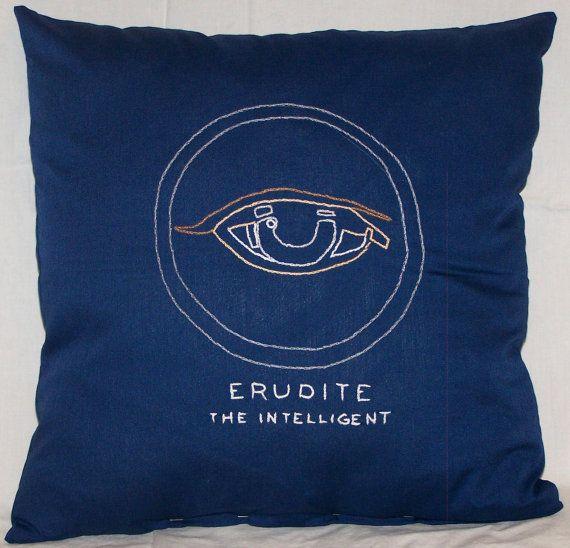 Divergent Inspired, Erudite: The Intelligent, Throw Pillow, Summer Sale on Etsy, $15.00