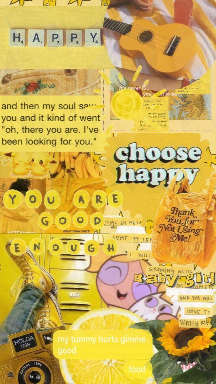 Wallpaper iphone disney rapunzel snow white 54+. yellow wallpaper | Iphone wallpaper yellow, Aesthetic