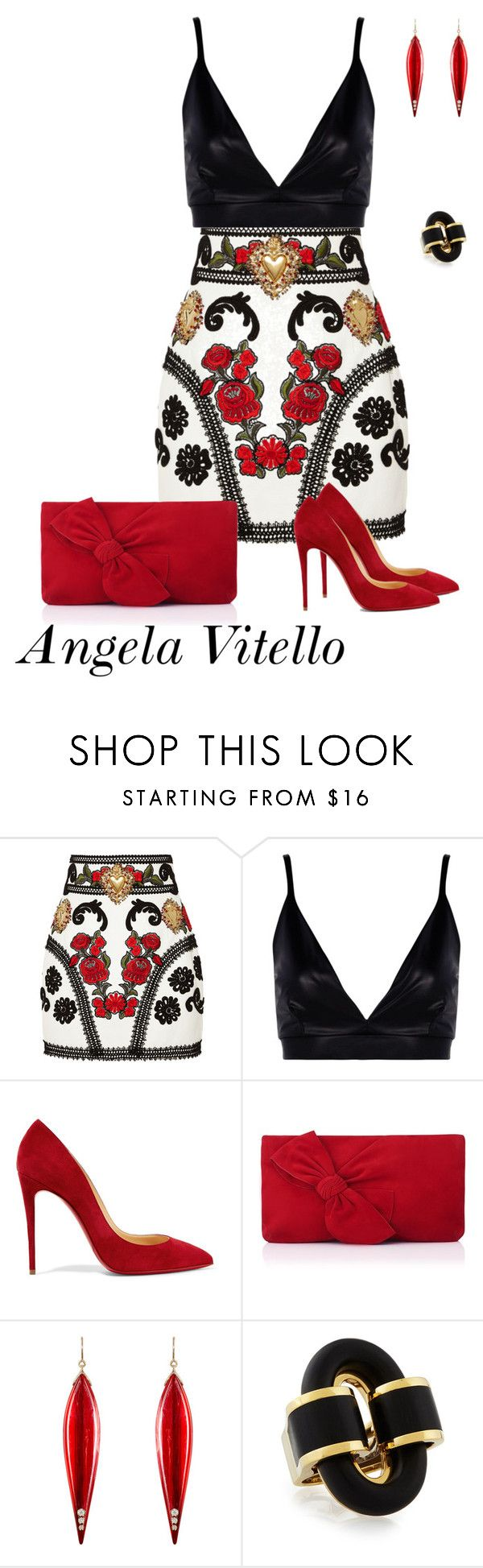 Untitled #839 by angela-vitello on Polyvore featuring Dolce&Gabbana, Boohoo, Christian Louboutin, L.K.Bennett and Mark Davis