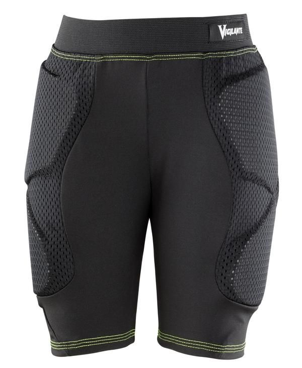 VIGILANTE YOUTH TECH PADDED SHORTS FOR YOUTH  Keep your little maniac protected whether he or she bikes, skateboards, roller skates, ice skates, skis or snowboards. The Vigilante Tech Padded Shorts for Youth will ensure your kid is cool, comfortable and protected across a multitude of sports. Your child won't even realize how well protected they are due to the low profile design of the Vigilante Tech's. That is, until they fall