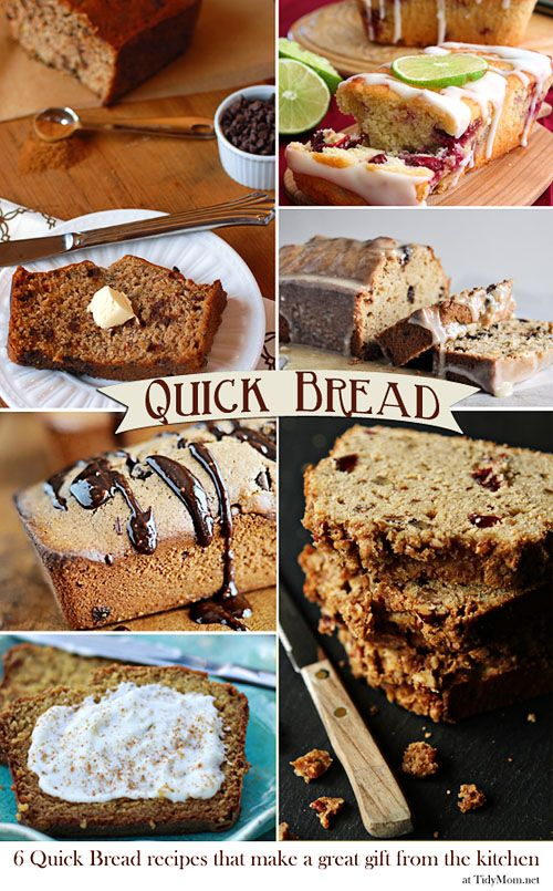 6 quick bread recipes great for gift giving at TidyMom.net