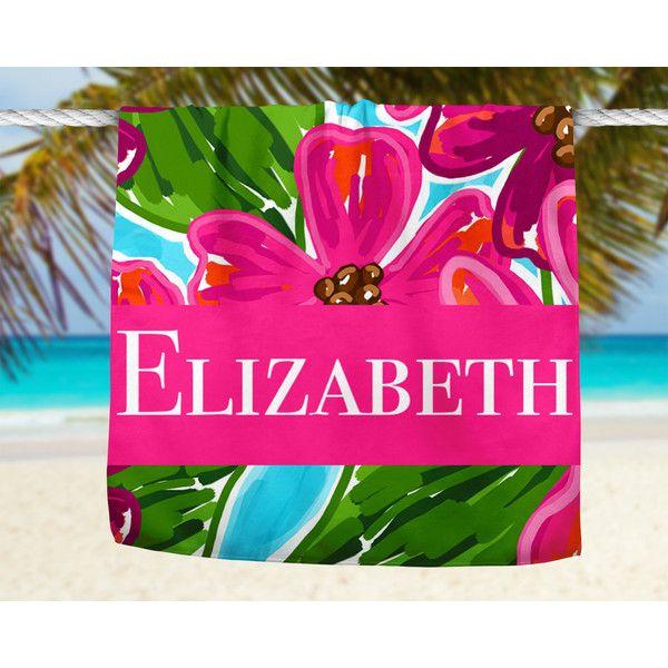 Personalized Beach Towel Monogram Beach Towel Bath Towel Micro Fiber... ($55) ❤ liked on Polyvore featuring home, bed & bath, bath, beach towels, bathroom, grey, home & living, velour beach towels, monogrammed beach towels and personalized beach towels