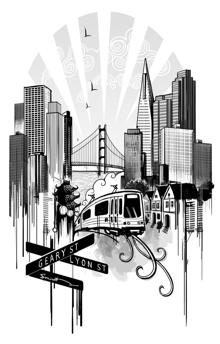 San Francisco tattoo design by Ilustreishon