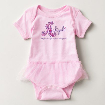 Aaliyah girls name meaning letter A monogram shirt - baby gifts giftidea diy unique cute