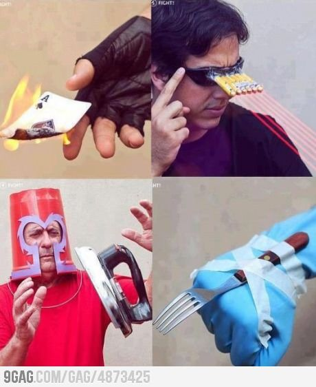 X-men DIY... seems legit.
