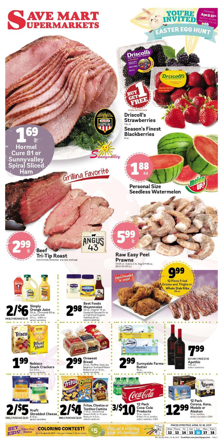 Save Mart Weekly ad April 12 - 18, 2017 - http://www.olcatalog.com/save-mart/save-mart-weekly-ad.html