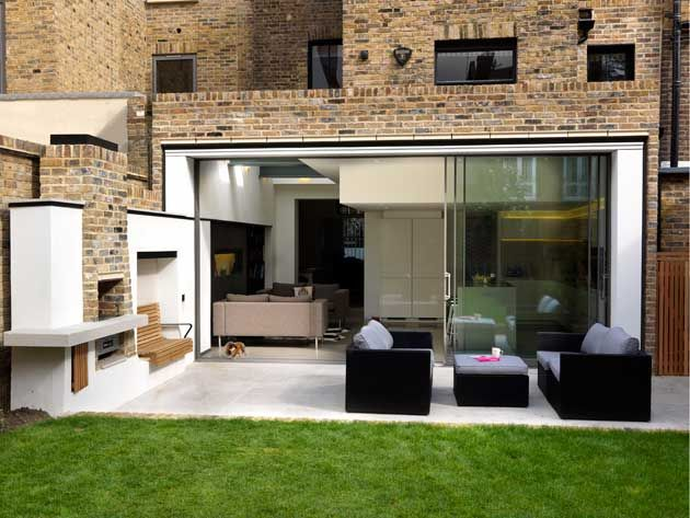 Use stretch of garden wall for barbecue? This possibly too built up.