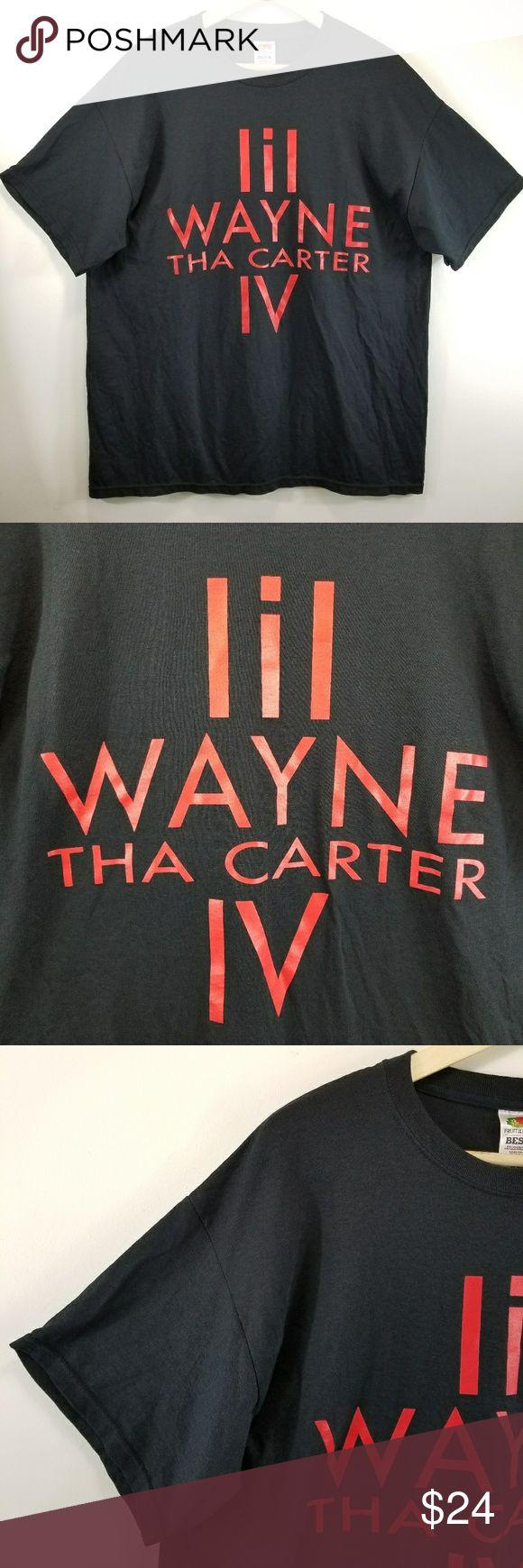 "Lil Wayne Tha Carter IV Hip Hop Rap T-Shirt YMCMB Lil Wayne Tha Carter IV T-shirt YMCMB Young Money Cash Money Billionaire  8"" (20 cm) sleeve  50"" (127 cm) chest 31"" (79 cm) back of neck to bottom hem Hanes Shirts Tees - Short Sleeve"