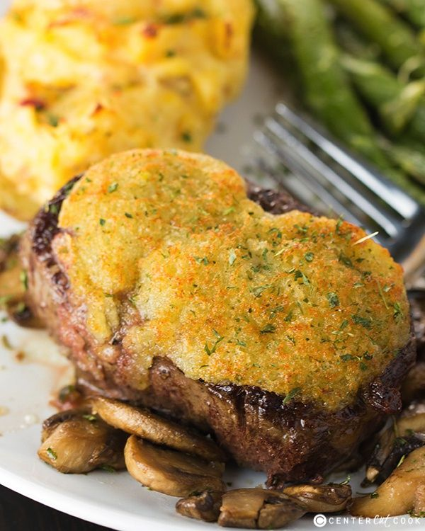 Parmesan Crusted Steak is the perfect dinner idea for Mother's Day, or any special occasion.