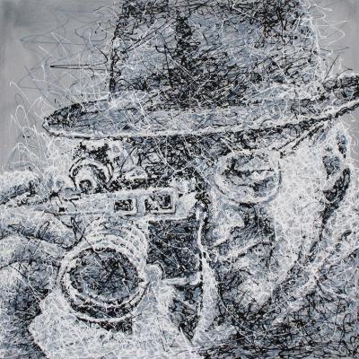 """""""HENRY CARTIER BRESSON""""  Pittura, Acrilico, 100 x 100 x 4 cm, 2009  contatti: studio.montanaro.mt@gmail.com tel.0835 312459  Studio Montanaro  vendita quadri realizzazione di serigrafie originali su tela, ritratti su commissione firmati Antonio Montanaro  leggi l'articolo on-line per conoscere l'artista : """"ARTE: Una sinfonia di colori. I lavori di Antonio Montanaro"""" ---> http://hubblog.it/2013/10/arte-una-sinfonia-di-colori-i-lavori-di-antonio-montanaro/"""