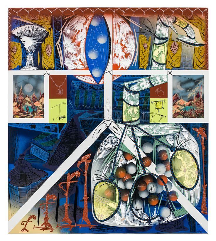 Bernier/Eliades Gallery | Lari Pittman | Untitled #2, 2013|Cel-vinyl, spray enamel on prepared panel|137 x 122 cm | Photo by Fredric Nilsen
