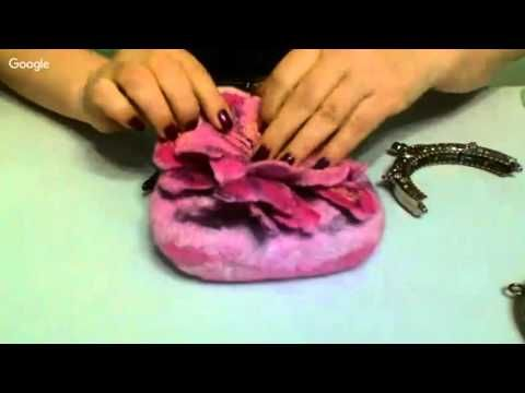 Валяние. Сумочка с фермуаром - секреты от Натальи Орлов - YouTube