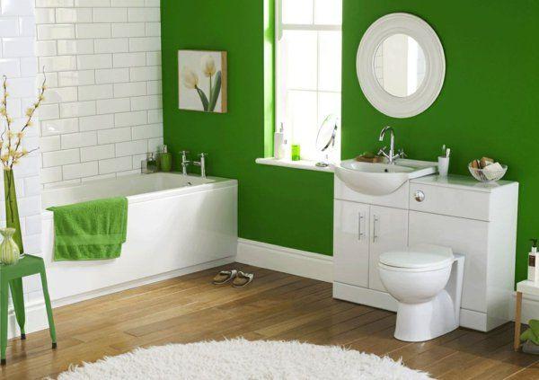 dunkel grün Wandgestaltung mit Farbe wand streichen ideen