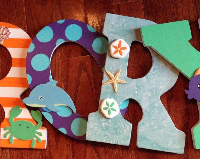 Letras para infantiles Letras de madera decoración de la