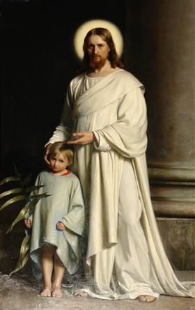 Christ and Child - Carl Bloch 1873