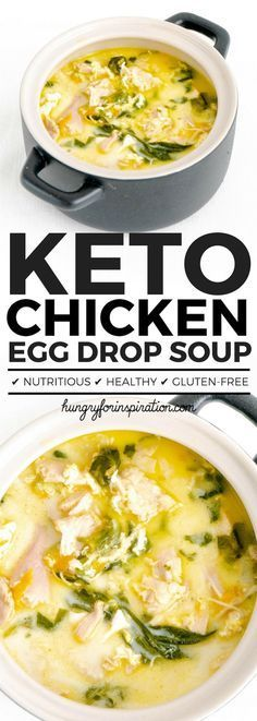 Hearty & Creamy Chicken Egg Drop Soup (Healthy Chicken Soup, Keto Soup)