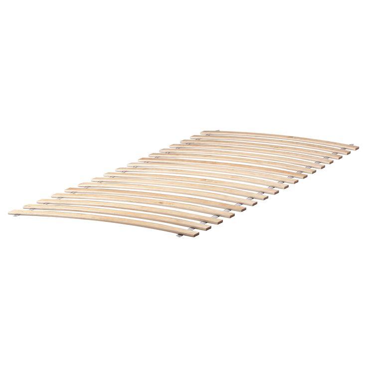 IKEA - LURÖY, Federholzrahmen,  , 90x200 cm, , 17 Federhölzer aus schichtverleimter Birke passen sich dem Körpergewicht an und verstärken die Flexibilität der Matratze.