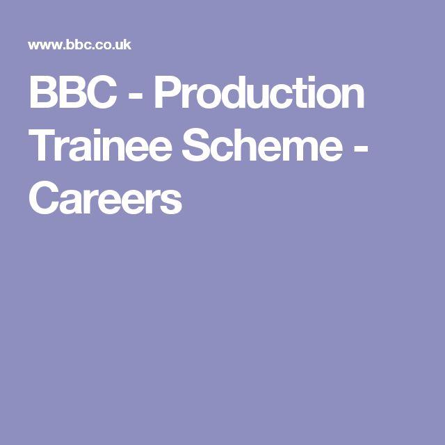 BBC - Production Trainee Scheme - Careers