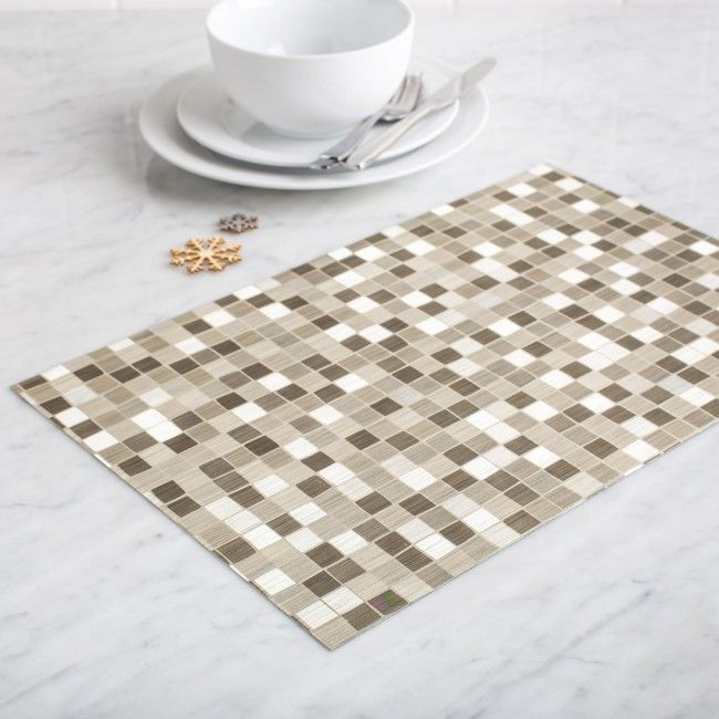 KSP Ritz Metallic 'Squares' PVC Placemat (Gold)
