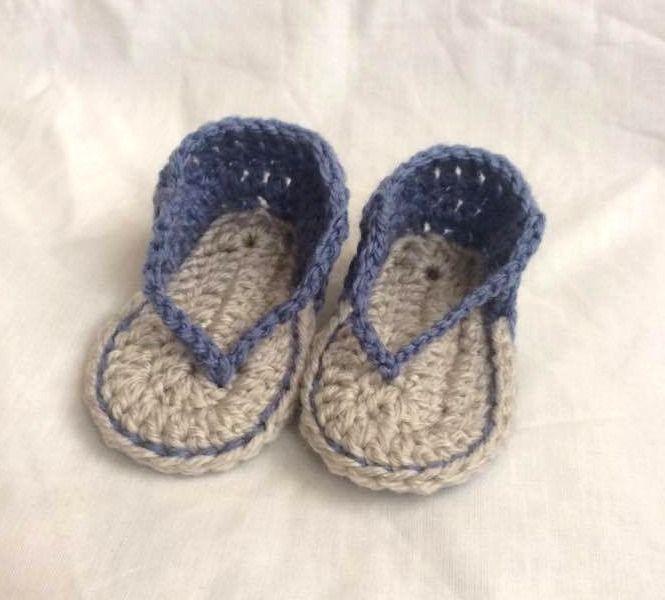 Tong bébé au crochet : Mode Bébé par fannylou
