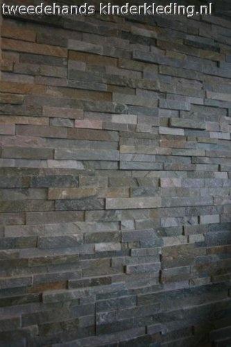 Van deze steenstrips kun je een muurdecoratie op mdf maken van elk gewenst formaat