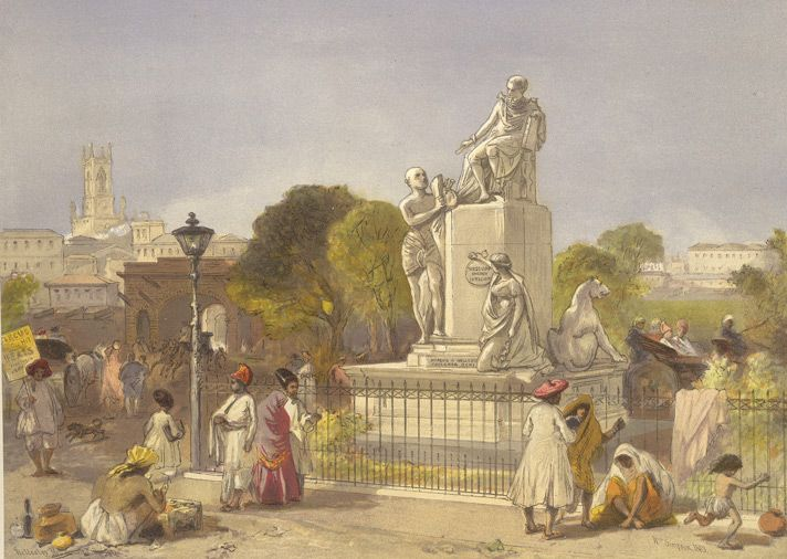 Lord Wellesley's monument at Bombay--Artist: Simpson, William (1823-1899)