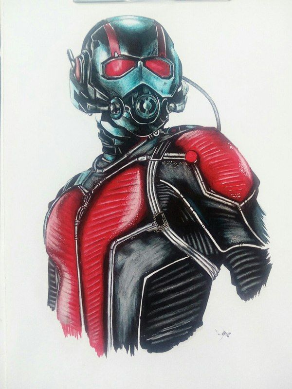 Человек-муравей Человек-муравей, Marvel, art time, drawing