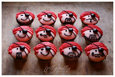 How to Decorate Pirate Cupcakes - icing instructions