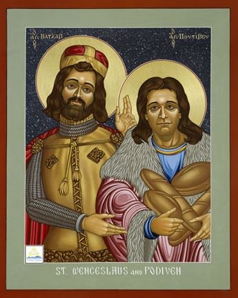 St. Wenceslaus (Vaclav) and Podiven, his Assistant by Lewis Williams, via Flickr.