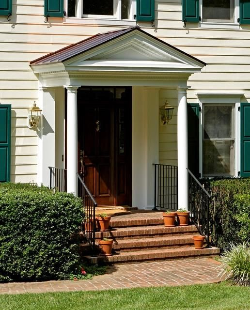 Traditional colonial portico traditional entry dc for Colonial front porch ideas
