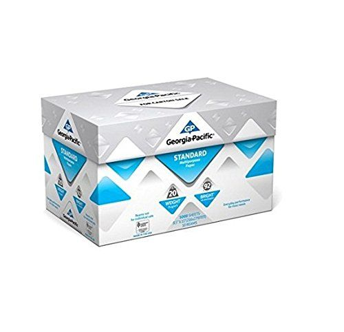 Georgia-Pacific Standard Multipurpose Paper, 8.5 x 11, 20 lb., 92 Brightness, 10 Ream Case, 5,000 Sheets (3 Packs)