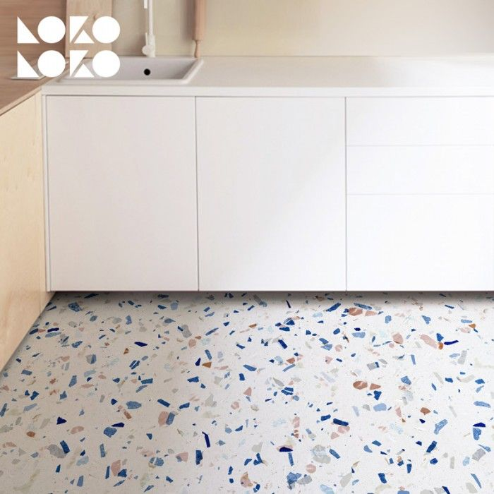 Vinyl For Floor Decor With Blue Tones Terrazzo Textures Terrazzo Flooring Floor Decor Flooring