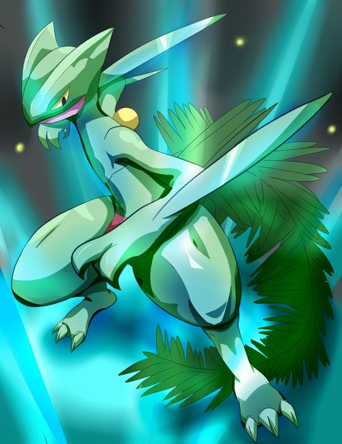 Sceptile #254. One of the best Pokemon you'll EVER meet