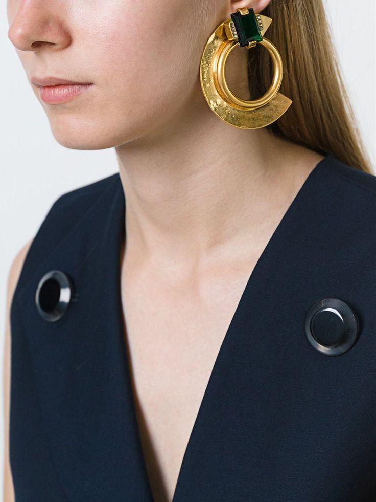 Marni boucles d'oreilles clip oversize