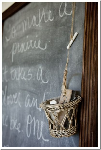 love this from TJ Maxx...candle holder made into chalk/eraser holder
