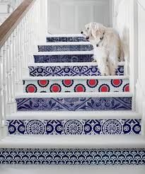 stenciled stairs - Google Search