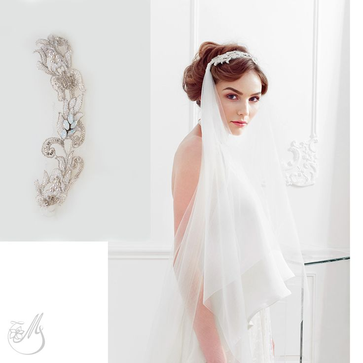 Who wouldn't need this couture bridal veil for a summer wedding? ‪#‎AngelicusVeil‬ is both elegant and versatile - find it on www.mscarves.ro.